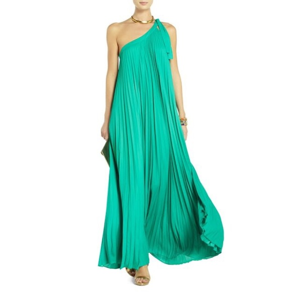 d8cda8549c BCBGMaxAzria Dresses   Skirts - BCBG Abee Pleated One Shoulder Maxi Dress